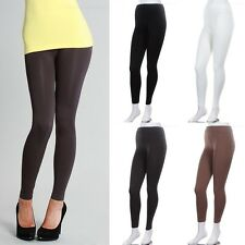 High Quality Seamless Plain Jersey Ankle Length Leggings Good Stretch ONE SIZE