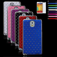 Hybrid Rugged Rubber Bling Crystal Case Cover For Samsung Galaxy Note 3 N9000