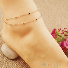 Sexy Beaded Anklet Bracelet Ankle Chain Hand Chain Foot Jewelry Barefoot Beach