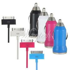 2in1 USB Car Charger Adapter + Data Sync Cable For iPhone 4 4S 3GS 3G iPod Touch