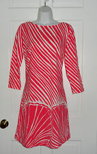 NWT LILLY PULITZER WATERMELON SHIMMY SHELL STRIPE TOPANGA  DRESS S  M