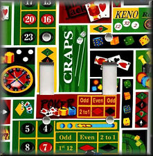 Switch Plates And Outlets - Casino Games - Poker - Game Room Home Decor
