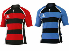 Gilbert New Xact Hooped Durable Rugby Playing Shirt - Available in 4 Colours