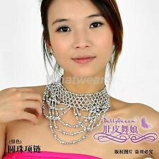 Belly Dance Accessory Beaded Elastic Necklace S35 FST