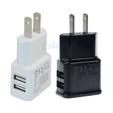 2.1A Dual 2Port USB US Home Travel Wall Charger Adapter For Samsung Galaxy N7100