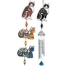 Pewterworks Cat Wind Chimes by Carson Home Accents--Your Choice of Design