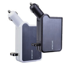 Enercell 3-in-1 Portable Universal Combo Car Charger, Wall Charger & Power Bank
