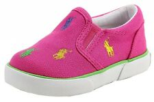 Polo Ralph Lauren Toddler Girls Bal Harbour Repeat Fashion Fuschia Sneaker Shoes