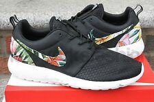 New Nike Roshe Run Custom Black White Marble Island Floral Men Sizes 6 - 15