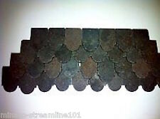 1/12th  Dolls House Roof rounded Shaped Tiles - Packet of 250