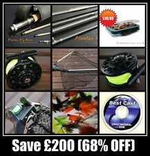 Flextec Fly Fishing Kit, Rod, Reel, Line, Flies and Landing Net Rrp from £289.99