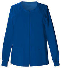 Galaxy Blue Cherokee Workwear Zip Front Warm Up Scrub Jacket 4315 GABW