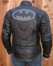 Bat Naked Leather Motorcycle Riding Racing Jacket Coat With GP Armor