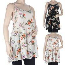Floral Print Spaghetti Strap Thigh Length Dress Casual Easy Wear Rayon S M L