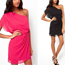 New Women Summer Sexy Chiffon Casual Party Evening Cocktail Mini Dress