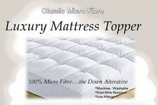 Luxury Classic Microfibre Mattress Topper 600 gsm Fill with 40cm Skirt