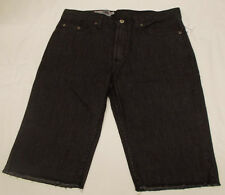 Mens Ocean Current Denim Shorts Black Premium Jean Cut-off Size 28 30 34 NWT