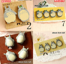 1 Pack Totoro Funny Wood Wooden Fridge Magnets Set Kids Toy Wall Decorations