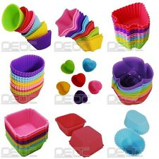 7 Shapes Silicone Cake Muffin Chocolate Cupcake Case Liner Baking Cup Mold DIY#1