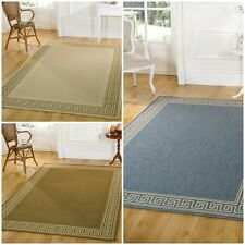 Modern Contemporary Flat Weave Bordered Rug 3 Colours 6 Different Sizes