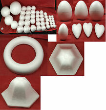 Polystyrene Shapes Assortment of Shapes and Sizes crafts