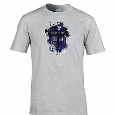 Police Public Call Box T Shirt Dr. Time Lord Who Travels Space Sci Fi The Doctor