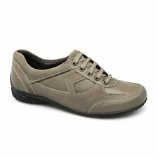 Strollers ROSE Womens Ladies Leather Suede Lace-Up Padded Casual Shoes Taupe New