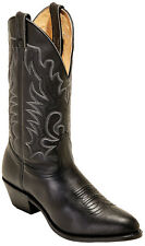 NEW boulet MENS 0064 13 INCH BLACK CALF CHALLENGER COWBOY BOOT W/RUBBER SOLE