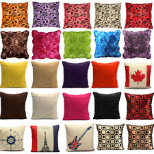 Colorful Soft Pillow Case Cushion Cover Bed Home Room Sofa Car Office Decoration