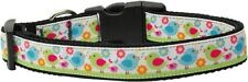 "Easter Birdies Nylon Dog Collar 1"" Wide Fits Neck Size 10-26"""