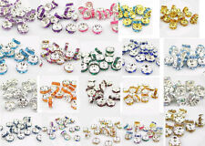 NEW Charm jewelry 20pcs 8MM Plated Silver/Gold crystal spacer beads U pick