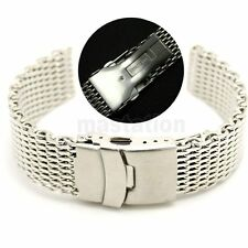18 20 22mm Silver Web Mesh Wrist Watch Band Stainless Steel Buckle Strap Mens US