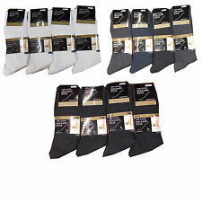 12 MENS NON ELASTIC SOCKS 6-11 EASY GRIP SOFT TOP 100% COTTON FRESH FEEL SOCKS