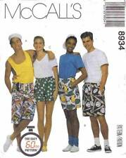 McCall's 8934 Sewing Pattern Uncut Misses Mens Teen Boys Boxer Shorts 3 Lengths