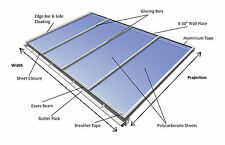 Lean-to Conservatory Roof Kit DIY, 3m Projection - Self Supported System