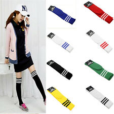 Soft High Striped Over Knee Long Socks Stockings Stripe Tube Soccer Football SK