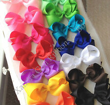 "5"" - Large Toddler Girls Hair Bows Summer Bows on Alligator Clips Hair Bow"