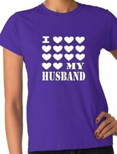 I Love My Husband Wedding Hen Party Funny Ladies T Shirt Size S-XXL