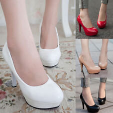 Ladies Wedding Court Party High Heel Platform Clubwear Classic Office Pump Shoes