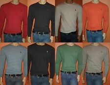 NEW! POLO RALPH LAUREN LONG SLEEVES CREW NECK T-SHIRTS NEW COLORS S,M,L,XL,XXL