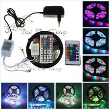 New 5M 3528 RGB 300LED SMD Light Strip Lamp Waterproof &44 Key IR 12V 2A Power