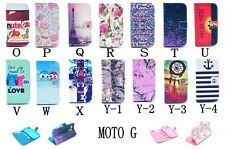 For Motorola Moto G PU Leather Flip Wallet Case Skin Amazing Owl Patterns