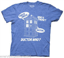 New Dr Who Knock Knock Who's There Dr Who Adult T Shirt Sci Fi TV Movie