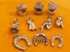 HH VINTAGE STERLING SILVER CHARM - LUCKY CHARMS WISHING WELL PIXIE HORSE SHOE