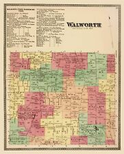 WALWORTH TOWNSHIP NEW YORK LAND OWNER (NY) BY BEERS AND CO 1874
