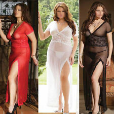 Womens Sexy Clubwear Cocktail Mesh Hollow Out Plus Size Bodycon Party Dress