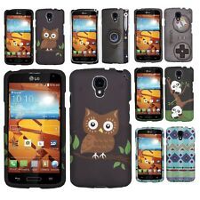 Rubberized Design Hard Case Snap On Phone Cover For LG Volt F90 LS740 Accessory