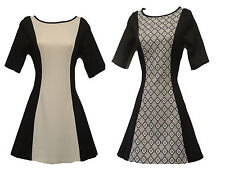 New Space Age 1960s GoGo Retro Black White Op Art Mod Twiggy Tunic Top dress