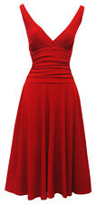 "Red Rosa Rosa"" Jane"" Vtg 1950's Rockabilly Pin Up Party Salsa Swing Prom Dress"