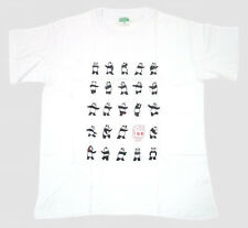 White Chinese Kong Fu Panda Play Tai Chi 24 Style Pattern Men's Cotton T-Shirt